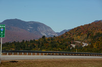 1016a A distant View of Cannon Mountain - Photographed from the top of the Tripoli Road Exit Ramp - North Woodstock, NH 10-14-16