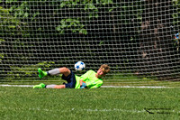 1004PS Kyle makes the initial stop... but the ball is not secured, and was hit very hard - Seacoast United Summer Challenge 2017 - Bowdoin College - Brunswick, ME 06-18-17