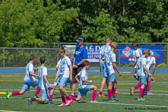 1001PS Team Warmups - Edward J McMann Outdoor Athletic Complex - Bath, ME 06-18-16