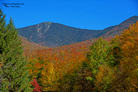 1022PS Mount Flume (4,328 ft) - Photographed from the Flume Gorge Center's parking lot - Franconia Notch State Park - Lincoln, NH 10-14-16